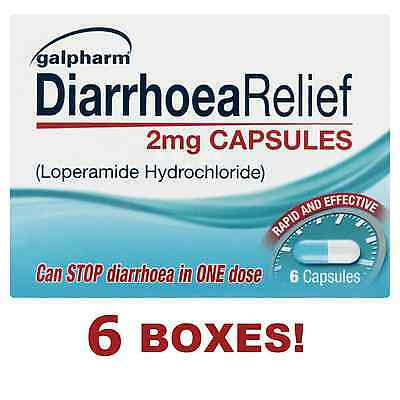 36 DIARRHOEA RELIEF 2mg CAPSULES LOPERAMIDE HYDROCHLORIDE TABLETS RAPID FAST
