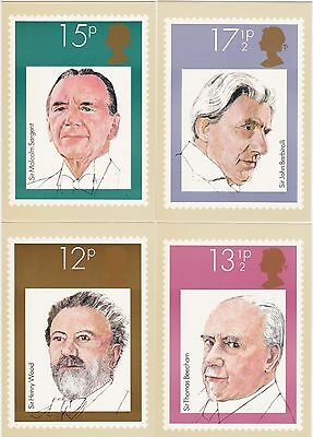 Post Cards United Kingdom PHQ Series 1980 24 Cards all different Mint