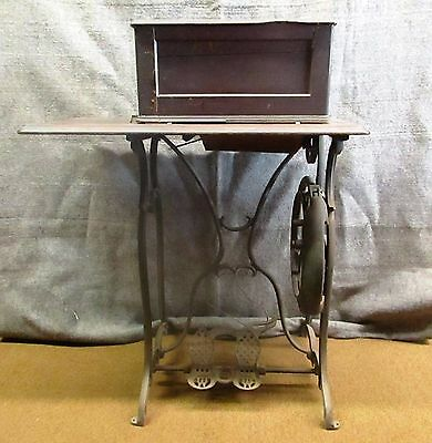 Weed Antique Cast Iron Base Foot Shaped Treadle Sewing Machine Cabinet RARE