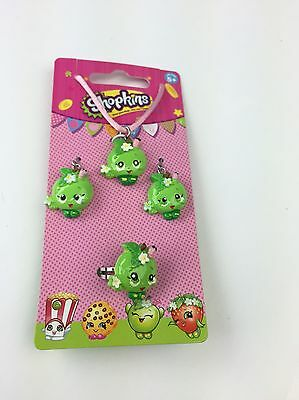 Shopkins New Green Apple Blossom Necklace Earrings Ring Jewelry Set