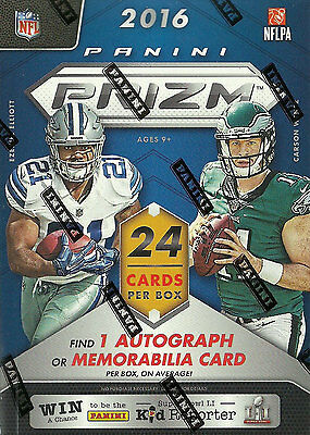 2016 Panini PRIZM Football Unopened Box One AUTOGRAPHED or Rookie Jersey Card
