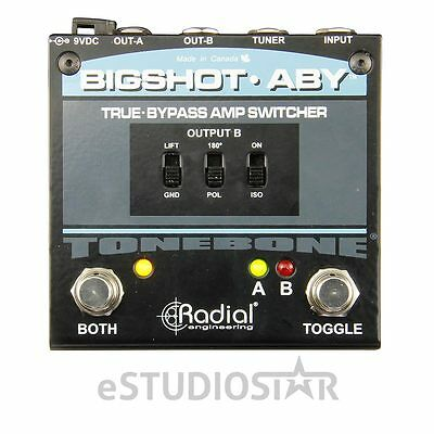Radial BigShot ABY True Bypass Switcher Effects Pedal  Version 2