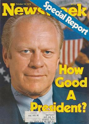 President Gerald Ford- Signed Newsweek Magazine Cover