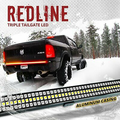 "48"" Tailgate 788 LED Bar Sequential Turn Signal Amber Pickup Rear Brake Light"