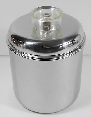 Vintage Revere Ware 1801 Stainless Steel 8 Cup Covered Canister Usa