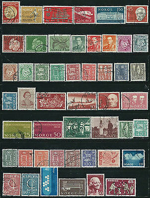 Norway - 49 old stamps used + 1  M.H. - Years 1959  to 1968