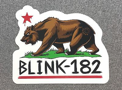 Blink-182 California Bear Sticker 4.2in Music Rock Band blink 182 decal