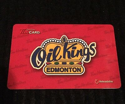 Tim Hortons Whl Edmonton Oil Kings Gift/tim Card New