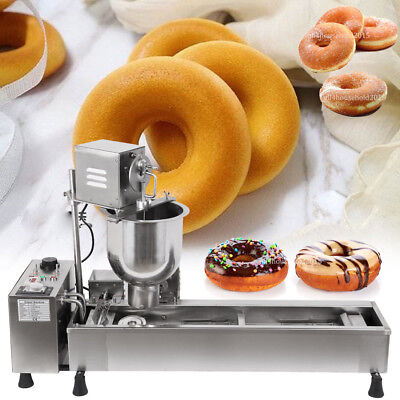Commercial Automatic Donut Maker Doughnut Machine Wide Oil Tank 3 Sets Free Mold