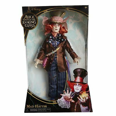 Disney Alice Through the Looking Glass Mad Hatter Adventure Hero Doll NEW