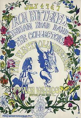 FD # 126-1 Iron Butterfly Family Dog Avalon Ballroom 1968 Poster FD126 Dottie
