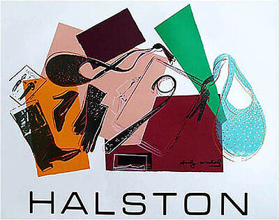 Andy Warhol Serigraph for Halston Women's Wear Original