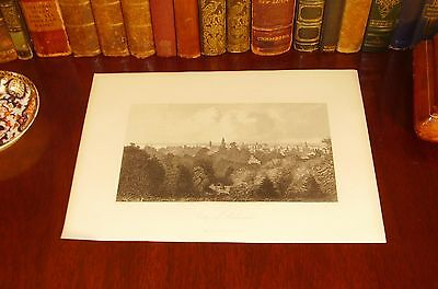 Original 1872 Antique MILWAUKEE Wisconsin WI Engraved Panoramic Map View Print