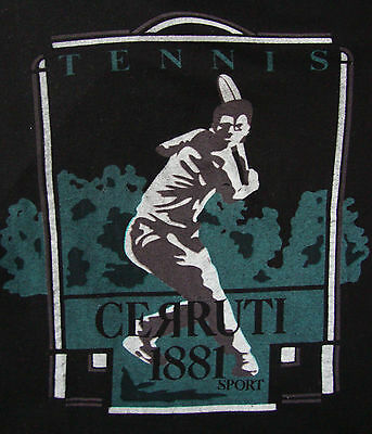 T-SHIRT  vintage 80's  CERRUTI SPORT 1881 tg.S ampia  made in  Italy