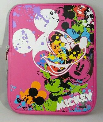 "MICKEY MOUSE Pink Tablet Case Cover Sleeve 10""x7.5""x5"" Disney Park Gift"