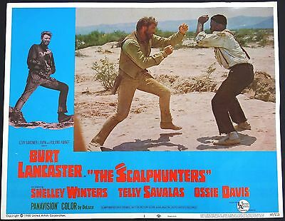 Set Of 8 The Scalphunters 1968 Vintage Lobby Film Cards Posters Burt Lancaster