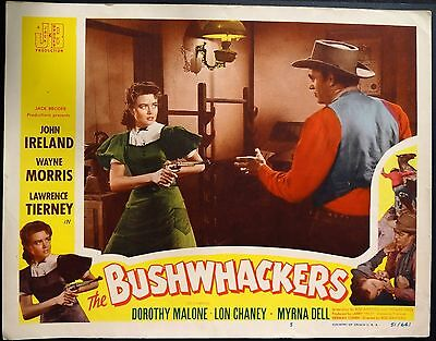RARE SET 6 BUSHWHACKERS 1950's USA WESTERN VINTAGE LOBBY FILM CARDS POSTERS
