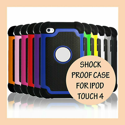 Shockproof Hard Heavy Duty Tough Gel Cover Case for Apple iPod Touch 4 4th Gen