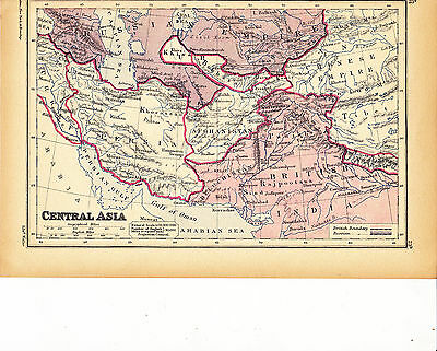 'CENTRAL ASIA'  MAP by EDWARD WELLER [23b] - 1897