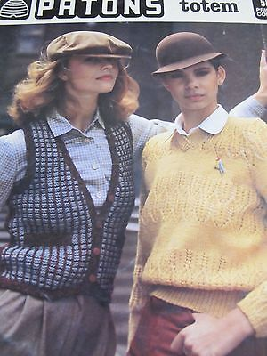 Patons Knitting Pattern,no 580,totem Women,sale,well Used,vintage,