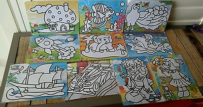 Sand Art Kit (3) : Set of 10 Mixed Set for School Fete, Craft, Party (Brand New)