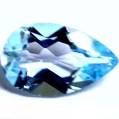 NATURAL PEAR SHAPE SKY BLUE TOPAZ GEMSTONES LOOSE 8 x 5.3 mm. AMAZING TOPAZ