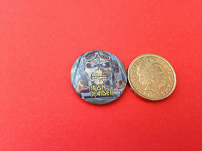 Iron Maiden early 80s button badge
