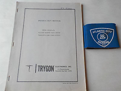Trygon Model Hh32-1.5A Silicon Quarter Rack Series Instruction Manual
