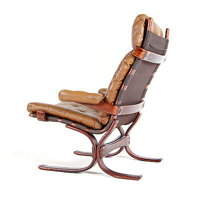 Retro Vintage Danish Rosewood Leather Lounge Easy Chair Armchair 50s 60s 70s