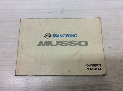 SsangYong Musso Owner's Manual Handbook