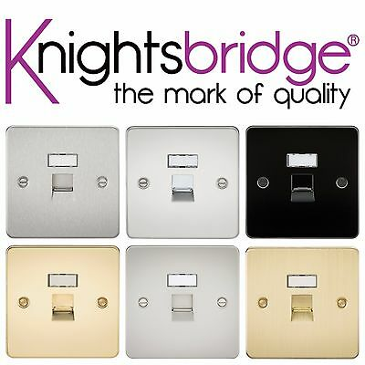 Knightsbridge Flat Plate RJ45 Network Internet Computer Outlet Socket