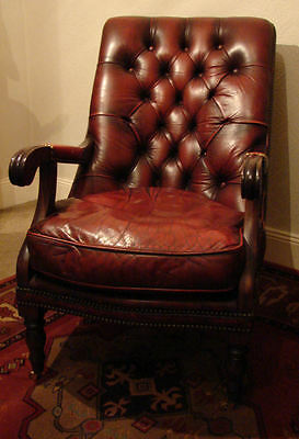 Leather Chesterfield Armchairs Pair MILLBROOK (Courier)