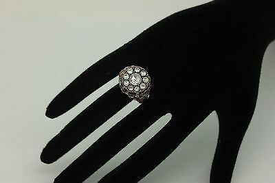 Amazing Crowbar Dizayn Ottoman Gold  Diamond Decorated For Lady Ring