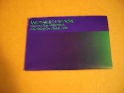 Vintage CSX Railroad 1993 Safety Rule Of The Week Book