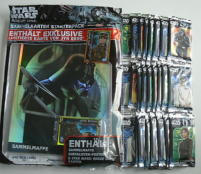 Topps Star Wars Rogue One - Starterpack + 25 Booster NEU & OVP
