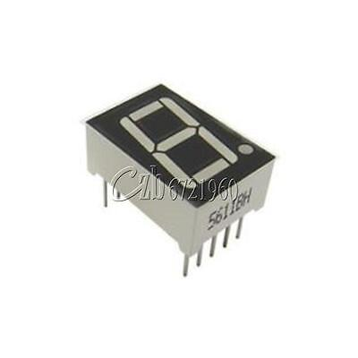 "10PCS Common Anode 10-Pin 1 Bit 7 Segment 0.56"" Blue LED Display Digital Tube"