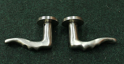 Brand New Old Stock Custom Sculptured Door Levers (1-Pair)  Matte Nickel