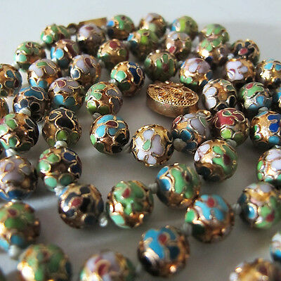 Emaille Collier Kette Halskette Cloisonne chinese vintage necklace