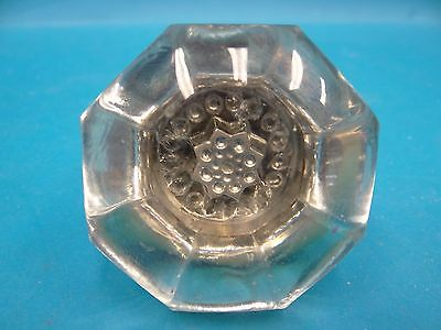 Antique Old Glass Brass Star of David Decorative Doorknob Door Knob Part Used