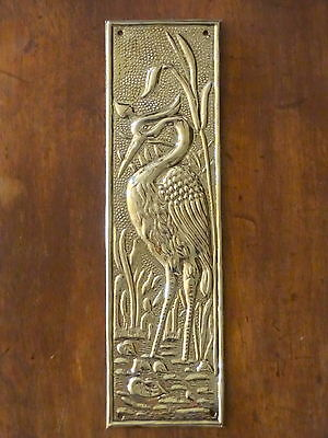 Brass Arts & Crafts Style Door Finger Plates