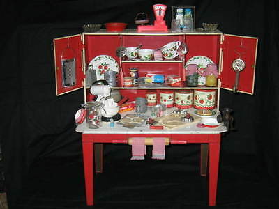 Vintage Wolverine Deluxe Hoosier Cabinet with many extras