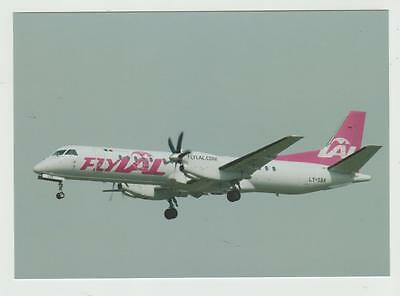 Postcard Lithuanian Airlines Saab 2000, LY-SBK