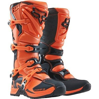 Fox Racing Youth Comp 5 Orange Motocross Boots New MX 2016 SIZE 6