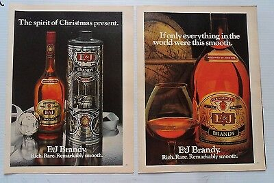 Lot #1 of 8 Different E & J Extra Smooth Brandy Print Ads ~ Golden Moments ++