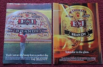 Lot #3 of 8 Different E & J Extra Smooth Brandy Print Ads ~ Golf Course Novels +