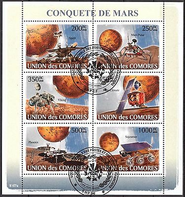 Comoros 2008 Space Conquest of Mars Sheet of 6 used