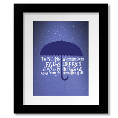 Counting Crows ANNA BEGINS Song Lyrics Art 90s Classic Rock Music Poster Artwork