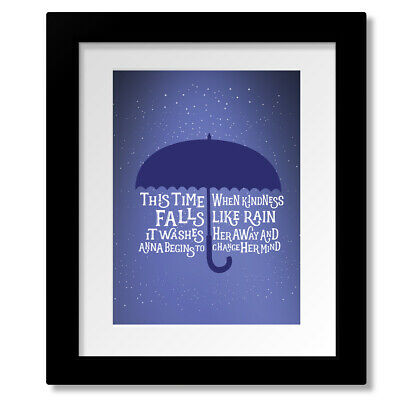 Counting Crows ANNA BEGINS Song Lyrics Art Music Poster (PRINTS CANVAS PLAQUES)