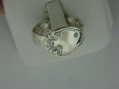 Antique Alvin French Scroll Pattern Sterling Silver Spoon Ring   Size 9
