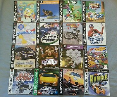 MANUALS ONLY Lot of 32 For Playstation 1 PS1 Instruction Books only